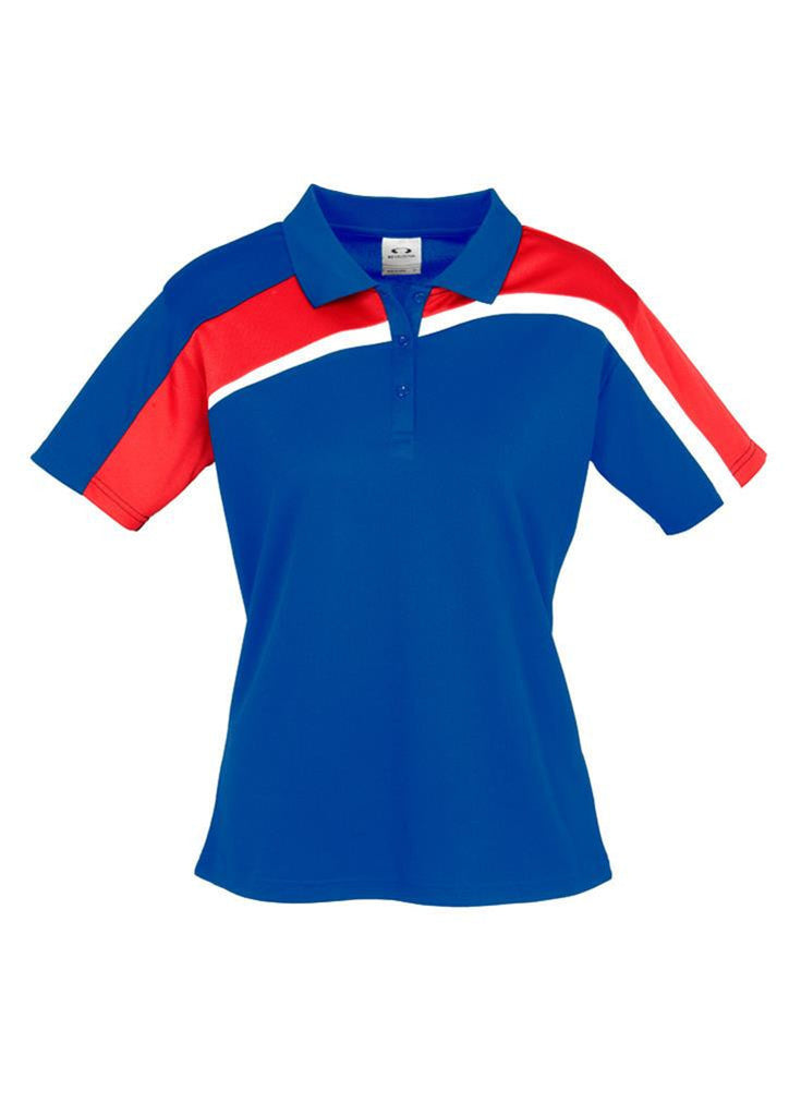 Biz Collection-Biz Collection Ladies Velocity polo-Royal / Red / White / 8-Corporate Apparel Online - 9