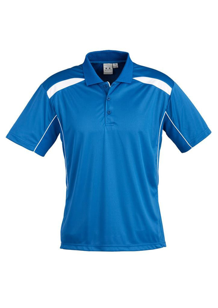 Biz Collection-Biz Collection Mens United Short Sleeve Polo 2nd  ( 10 Colour )-Royal / White / Small-Corporate Apparel Online - 5