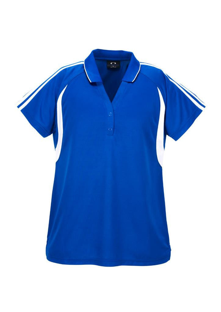 Biz Collection-Biz Collection Ladies Flash Polo 2nd (6 Colour )-Royal / White / 8-Corporate Apparel Online - 5