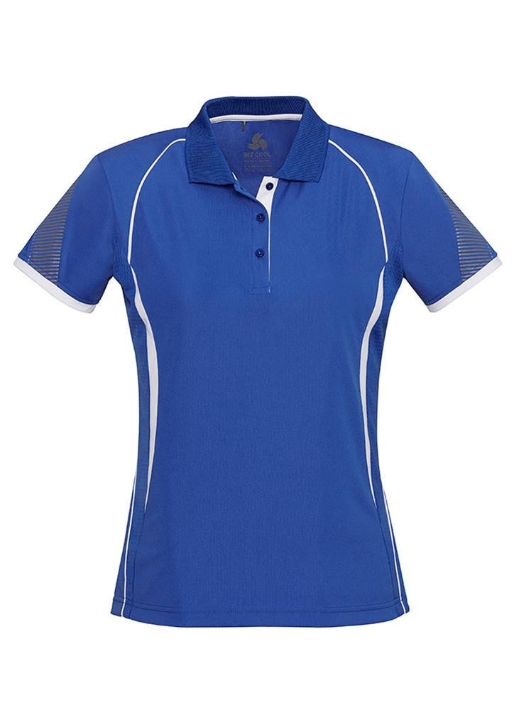 Biz Collection-Biz Collection Ladies Razor Polo-Royal/White / 8-Corporate Apparel Online - 10