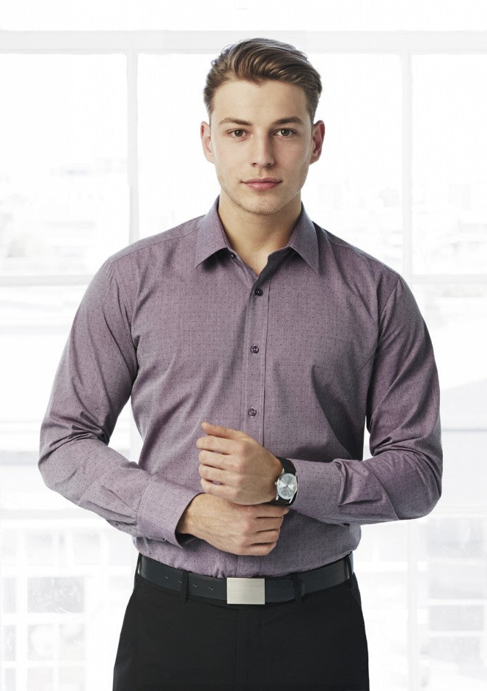 Biz Collection-Biz Collection Mens Trend Long Sleeve Shirt--Corporate Apparel Online - 1