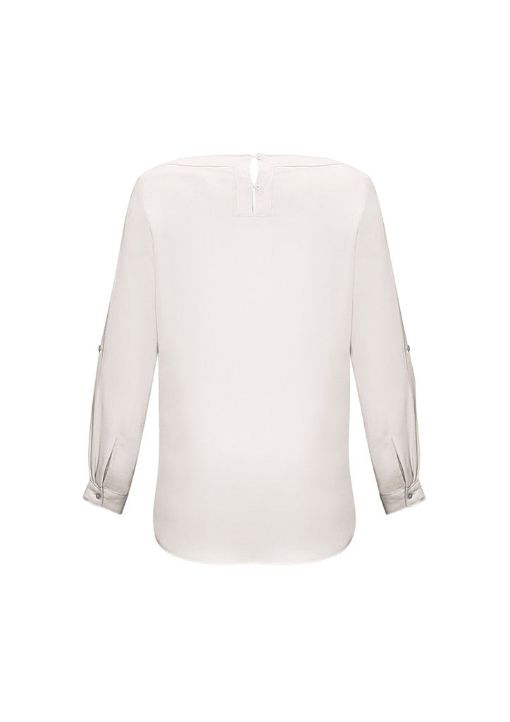 Biz Collection Ladies Madison BoatNeck Blouse-(S828LL)