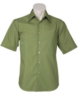 Biz Collection-Biz Collection Mens Metro Short Sleeve Shirt-LIGHT GREEN / 3XL-Corporate Apparel Online - 10