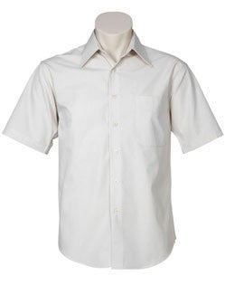 Biz Collection-Biz Collection Mens Metro Short Sleeve Shirt-STONE / M-Corporate Apparel Online - 4