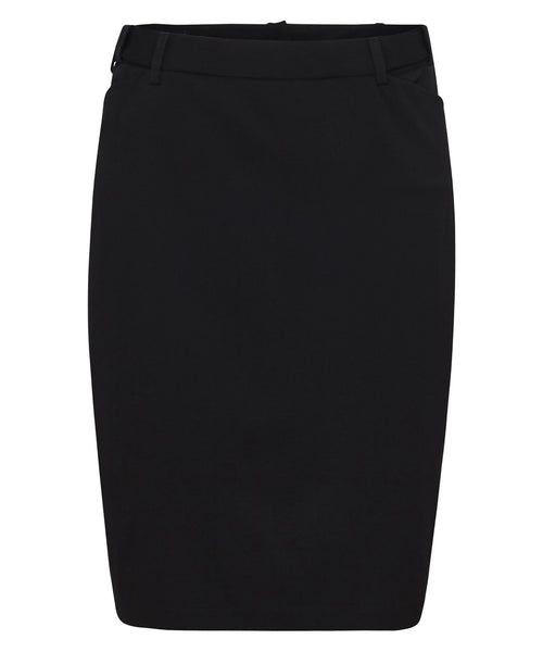 Bracks Wemons Black Plain Twill Suit Separates Ezifit Skirt (SKTEZW124)
