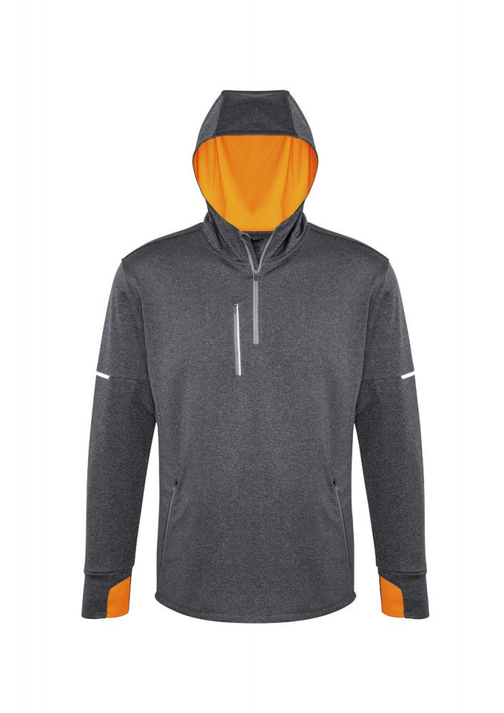 Biz Collection-Biz Collection Pace Mens Hoody-S / GREY/F-ORANGE-Corporate Apparel Online - 2