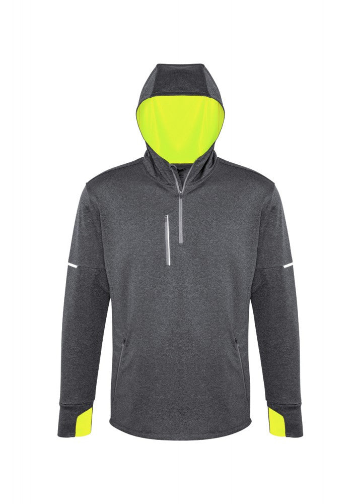 Biz Collection-Biz Collection Pace Mens Hoody-S / GREY/F-YELLOW-Corporate Apparel Online - 3