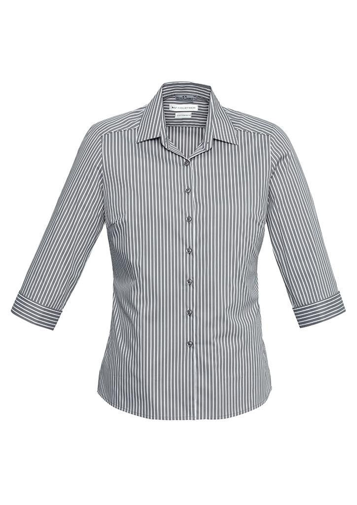 Biz Collection-Biz Collection Ladies Zurich 3/4 Shirt-Silver/White / 6-Corporate Apparel Online - 3