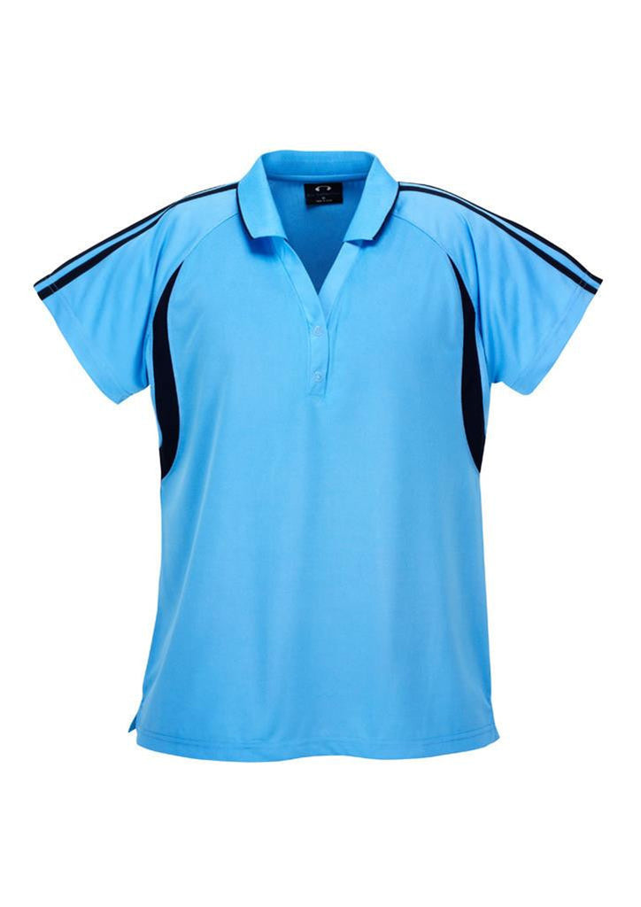 Biz Collection-Biz Collection Ladies Flash Polo 2nd (6 Colour )-Spring Blue / Navy / 8-Corporate Apparel Online - 6