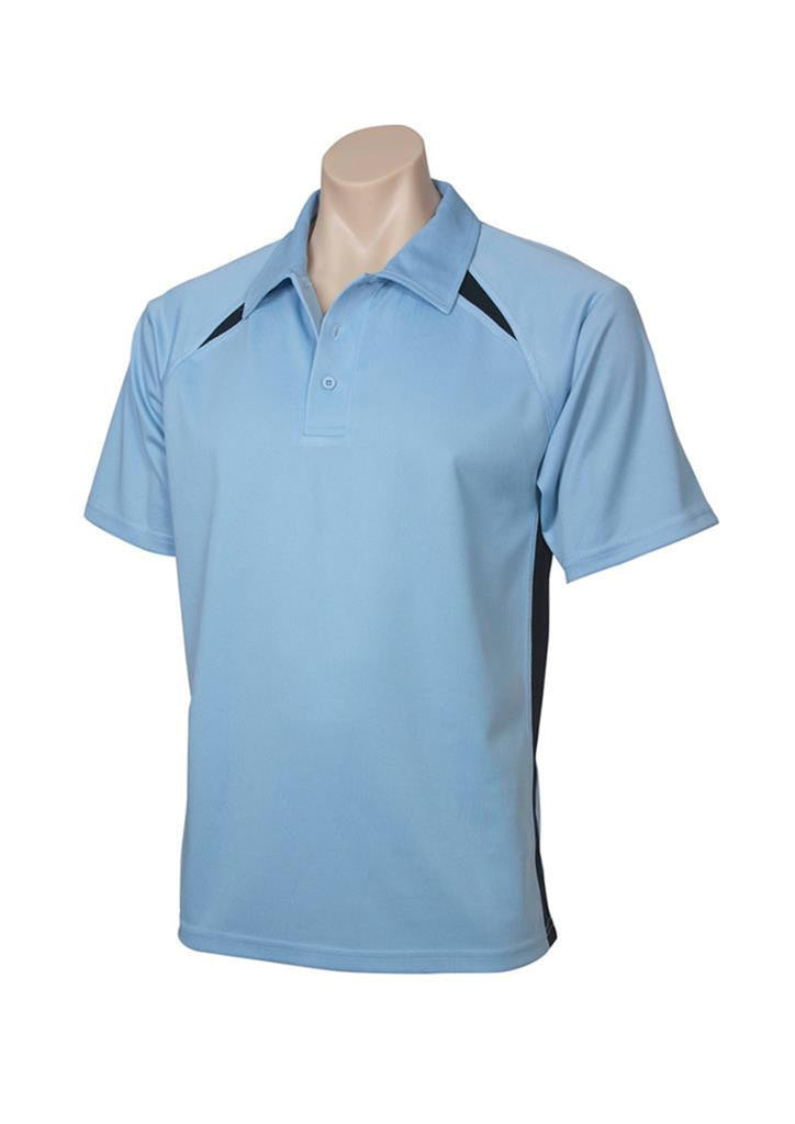Biz Collection-Biz Collection Mens Splice Polo 2nd ( 5 Colour )-Spring Blue / Navy / Small-Corporate Apparel Online - 2