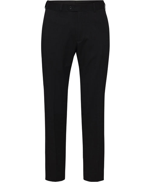 Bracks Black Plain Twill Suit Separates Ezifit Trouser (TRFEZM124)