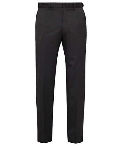 Bracks-Bracks Wool Blend Flat Front Trouser With Ezi Fit Waistband-Black / 77R-Corporate Apparel Online - 1