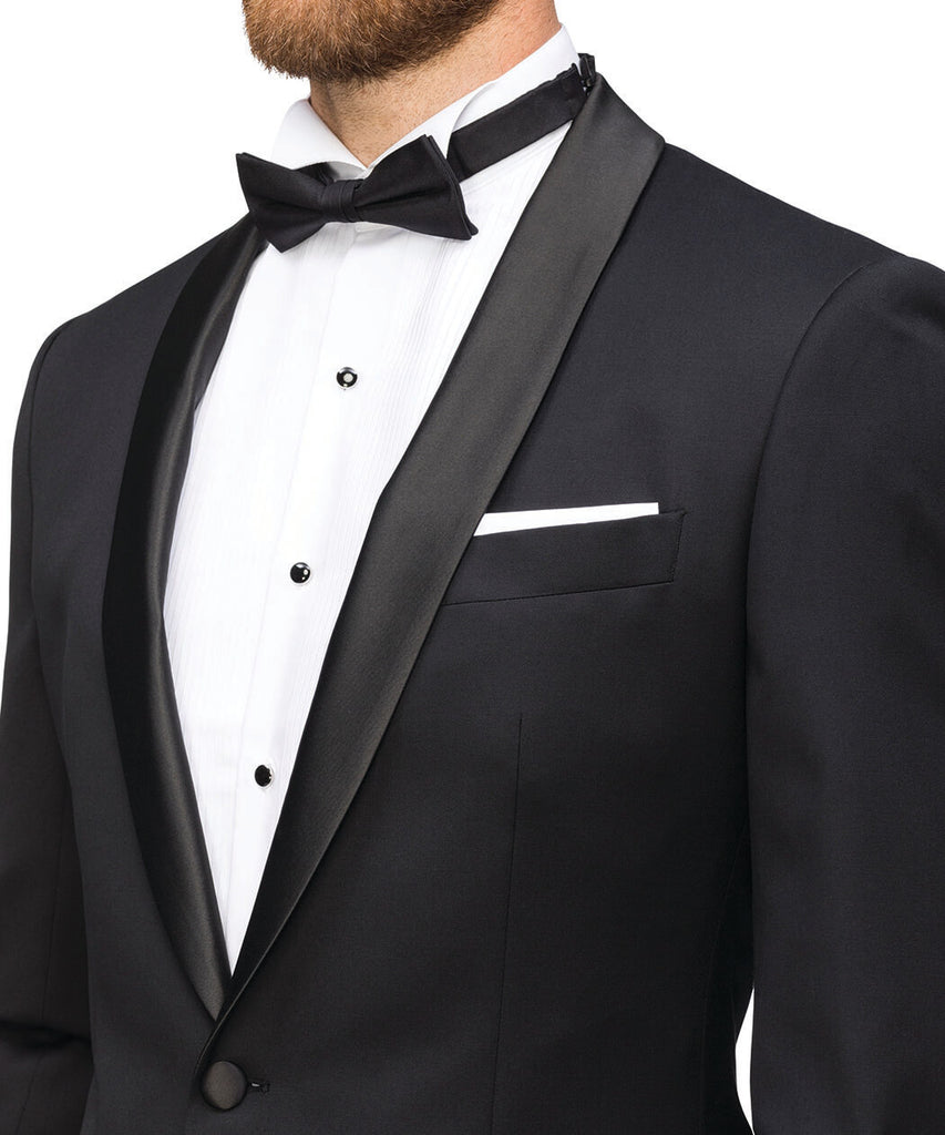 Van Heusen Men'S European Tailored Fit Dinner Jacket - Shawl Lapel  (VDJEB130F)
