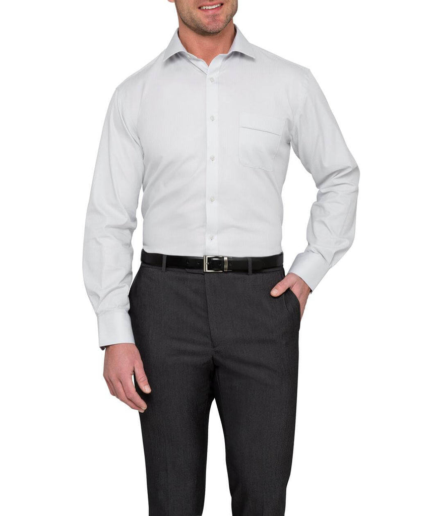 Van Heusen Men's Classic Relaxed Fit Cotton Polyester Mini Herringbone (2nd 2 Colours) (VFLM81U)