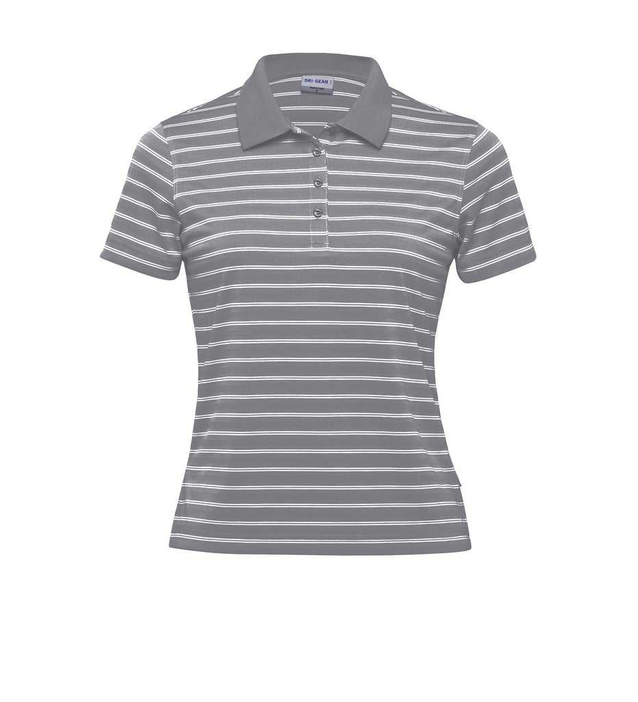 Gear For Life-Gear For Life Dri Gear Womens Fairway Polo-Aluminium/White / 8-Corporate Apparel Online - 2