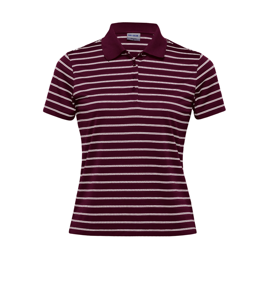 Gear For Life-Gear For Life Dri Gear Womens Fairway Polo-Maroon/White / 8-Corporate Apparel Online - 5