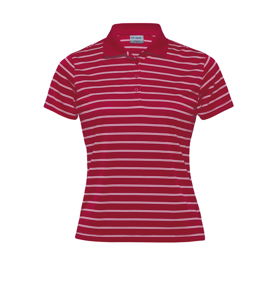 Gear For Life-Gear For Life Dri Gear Womens Fairway Polo-Red/White / 8-Corporate Apparel Online - 7