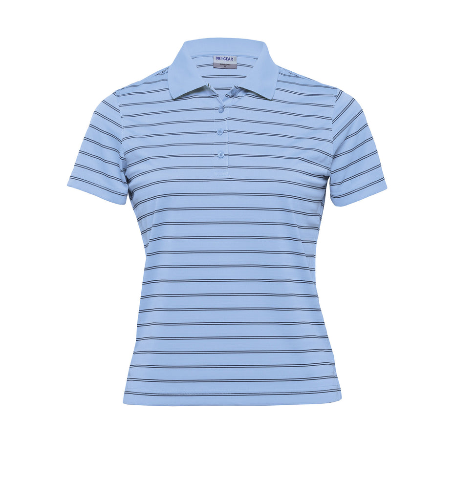Gear For Life-Gear For Life Dri Gear Womens Fairway Polo-Sky/Navy / 8-Corporate Apparel Online - 8
