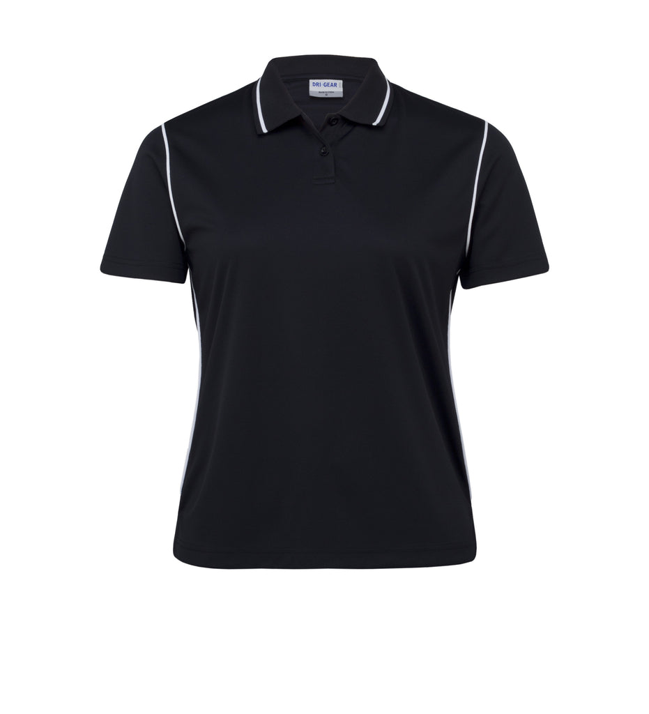 Gear For Life-Gear For Life Dri Gear Womens Hype Polo-Black/White / 8-Corporate Apparel Online - 4