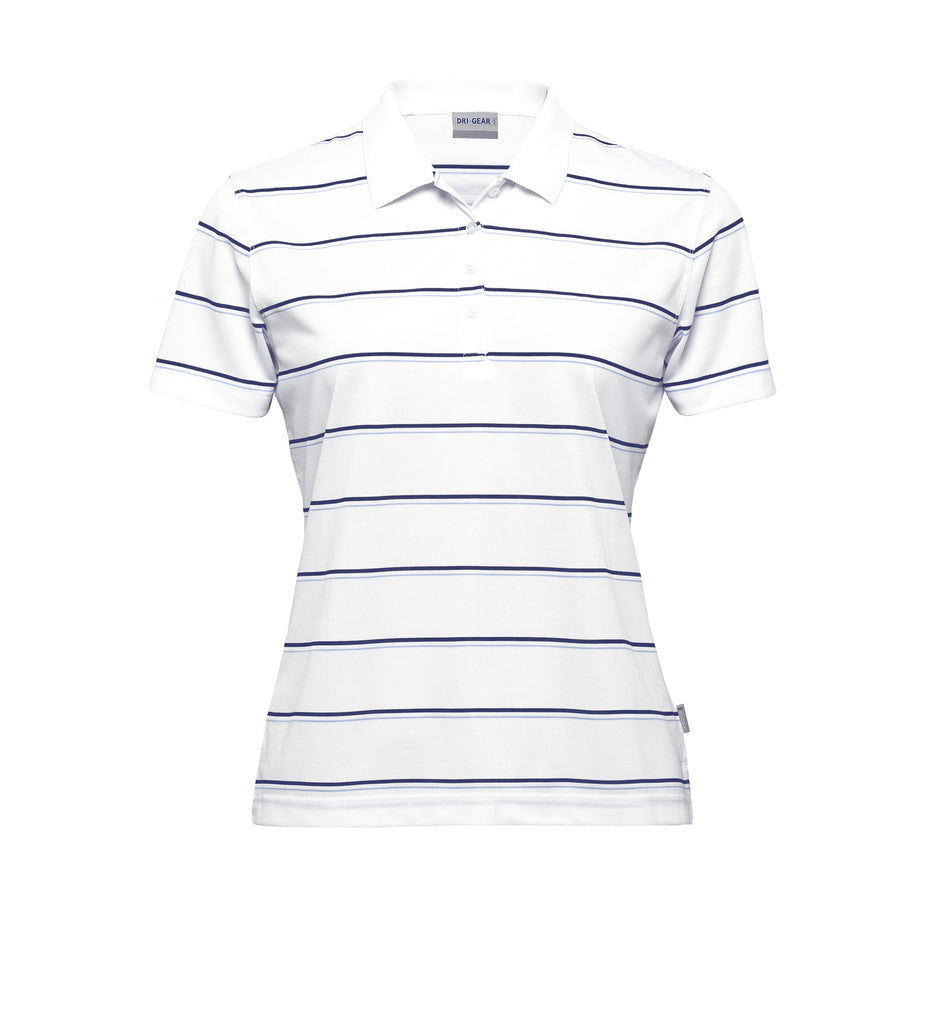 Gear For Life-Gear For Life Dri Gear Womens Kinetic Polo-White/Navy/Sky / 8-Corporate Apparel Online - 4