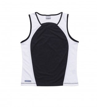 Gear For Life-Gear For Life Dri Gear Womens Contrast Singlet-8 / Black/White-Corporate Apparel Online - 2