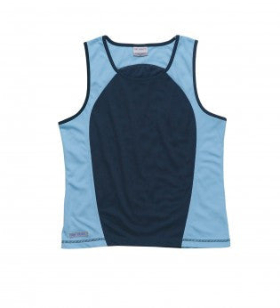 Gear For Life-Gear For Life Dri Gear Womens Contrast Singlet-8 / Navy/Sky-Corporate Apparel Online - 3