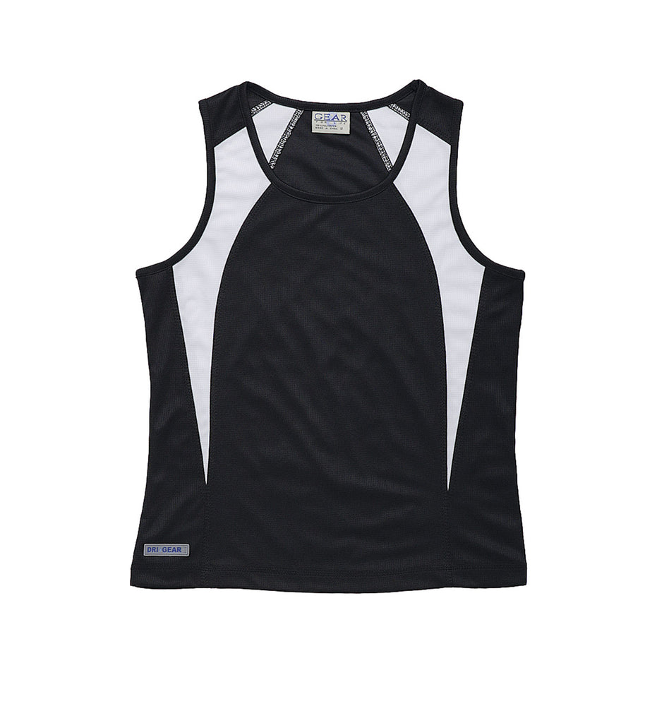 Gear For Life-Gear For Life Dri Gear Womens Spliced Zenith Singlet-Black/White / 10-Corporate Apparel Online - 7