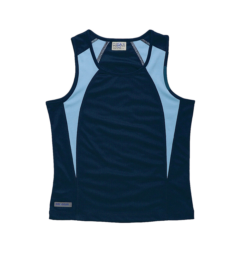 Gear For Life-Gear For Life Dri Gear Womens Spliced Zenith Singlet-Navy/Sky / 10-Corporate Apparel Online - 10