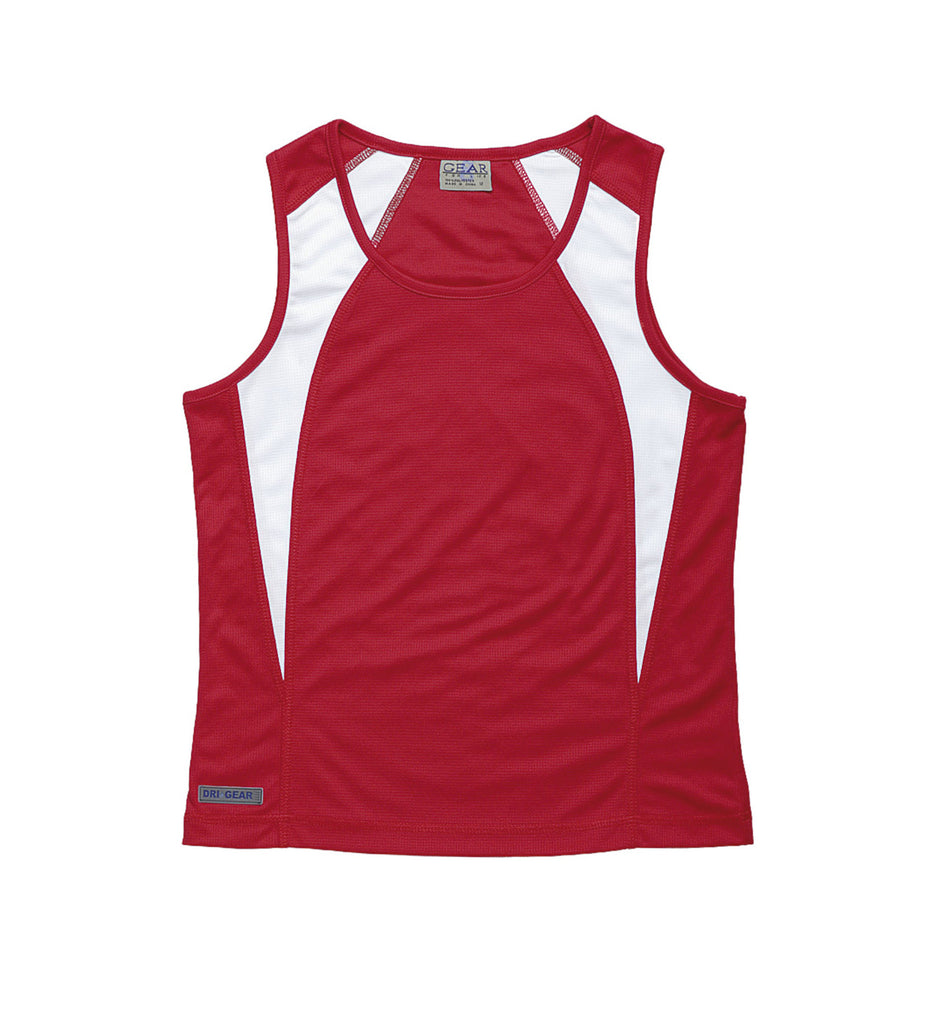 Gear For Life-Gear For Life Dri Gear Womens Spliced Zenith Singlet-Red/White / 10-Corporate Apparel Online - 12