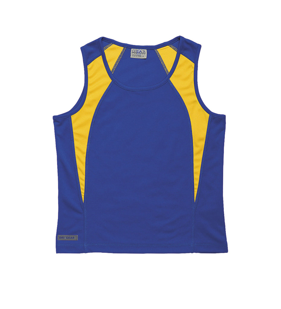 Gear For Life-Gear For Life Dri Gear Womens Spliced Zenith Singlet-Royal/Gold / 10-Corporate Apparel Online - 14
