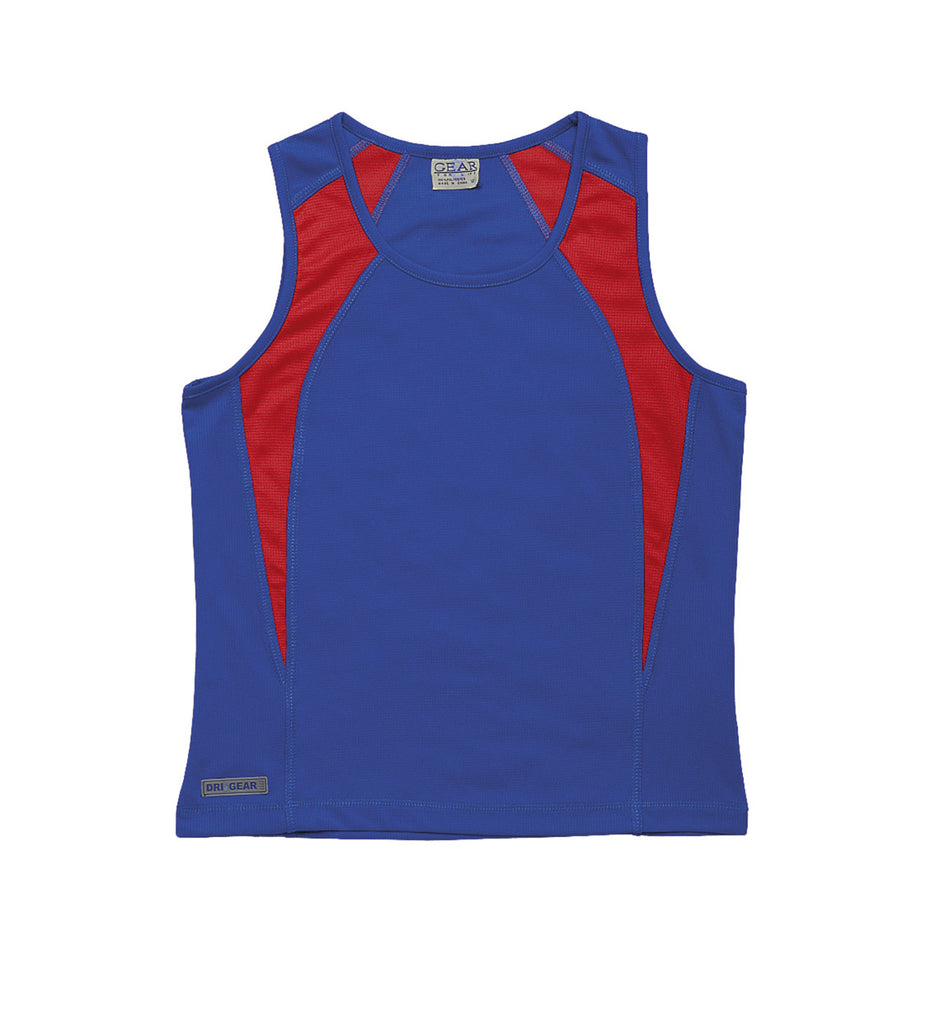 Gear For Life-Gear For Life Dri Gear Womens Spliced Zenith Singlet-Royal/Red / 10-Corporate Apparel Online - 13