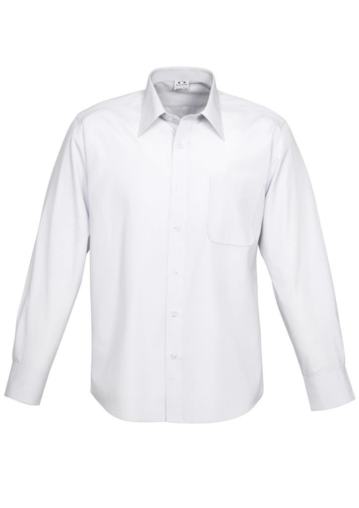 Biz Collection-Biz Collection Mens Ambassador Long Sleeve Shirt-White / S-Corporate Apparel Online - 5