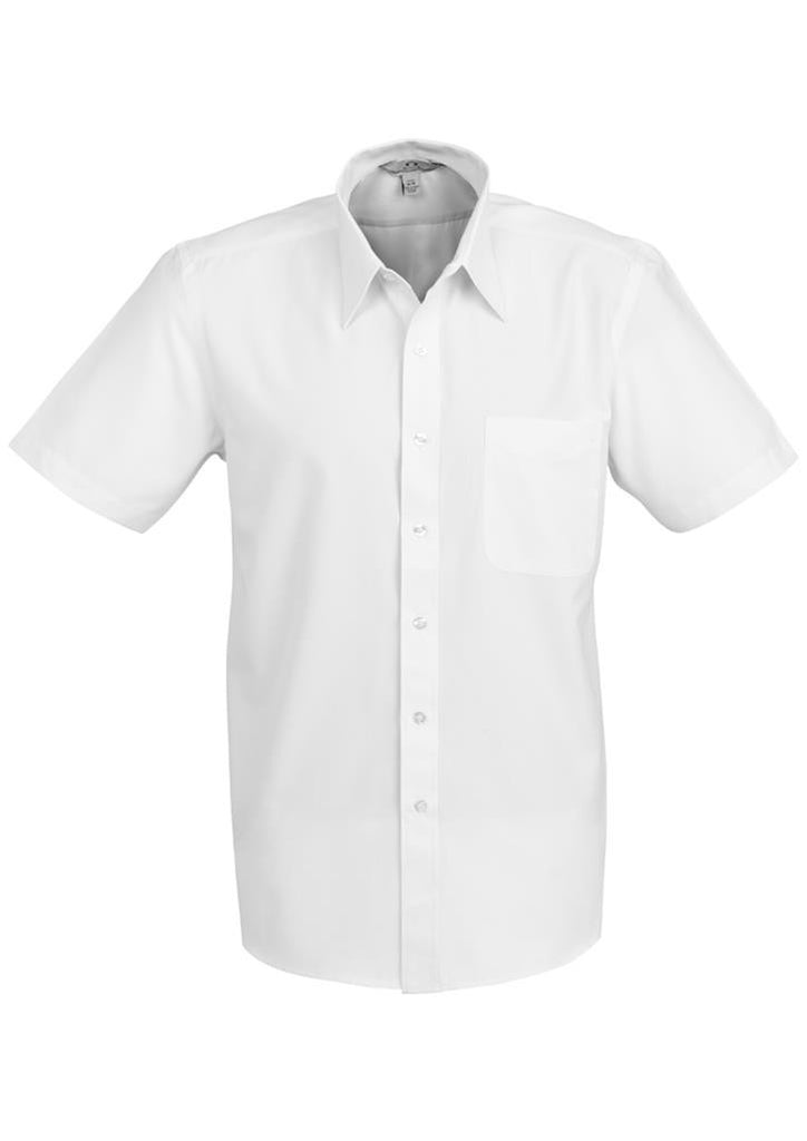 Biz Collection-Biz Collection Mens Ambassador Short Sleeve Shirt-White / S-Corporate Apparel Online - 5