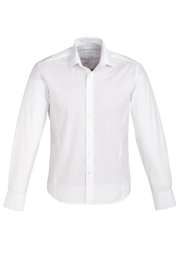 Biz Collection-Biz Collection Mens Berlin Long Sleeve Shirt-White / S-Corporate Apparel Online - 7