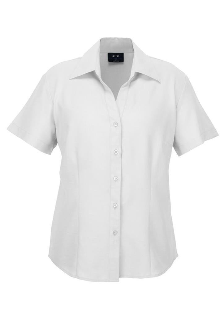 Biz Collection-Biz Collection Ladies Plain Oasis Shirt-S/S-White / 6-Corporate Apparel Online - 10