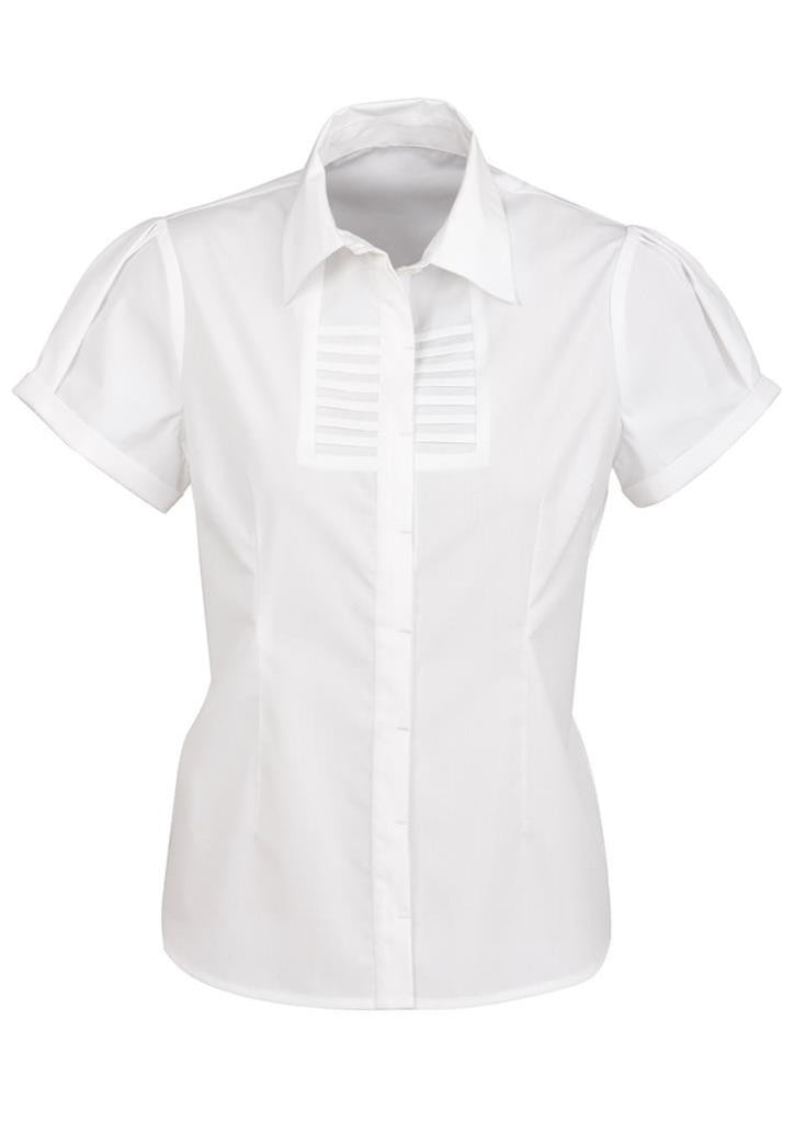 Biz Collection-Biz Collection Ladies Berlin Short Sleeve Shirt-White / 6-Corporate Apparel Online - 7