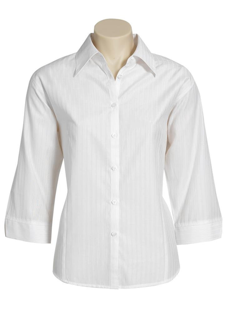 Biz Collection-Biz Collection Ladies Boston 3/4 Sleeve Shirt-White / 10-Corporate Apparel Online - 4