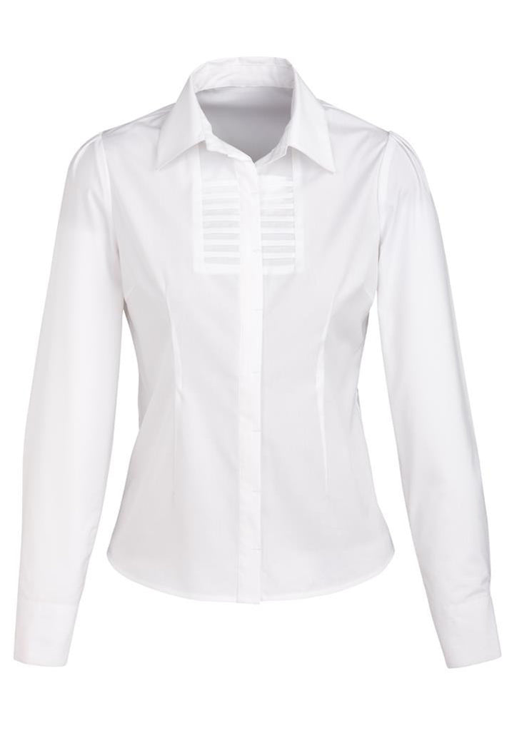 Biz Collection-Biz Collection Ladies Berlin Long Sleeve Shirt-White / 6-Corporate Apparel Online - 7