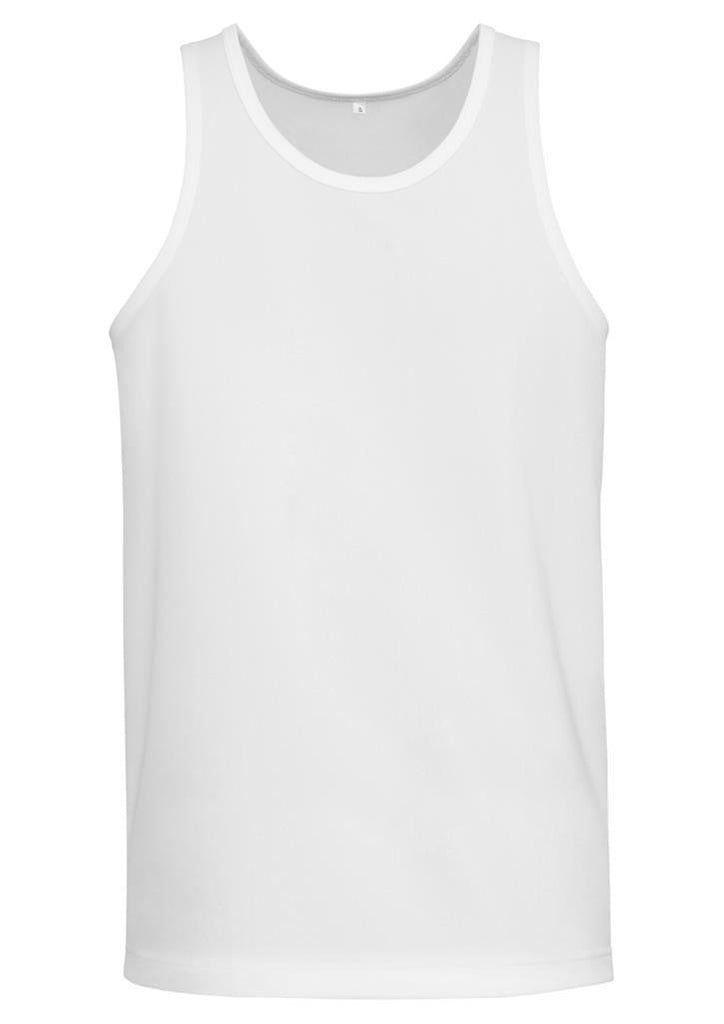 Biz Collection-Biz Collection Sprint Kids BizCool Singlet-4 / White-Corporate Apparel Online - 3