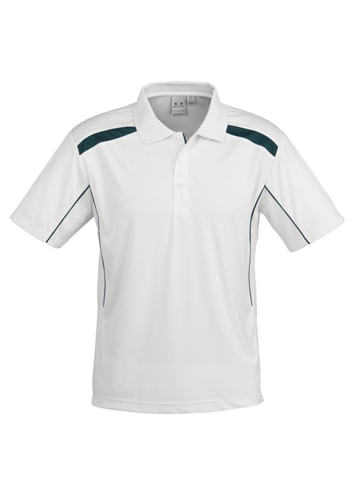 Biz Collection-Biz Collection Mens United Short Sleeve Polo 2nd  ( 10 Colour )-White / Forest / Small-Corporate Apparel Online - 7