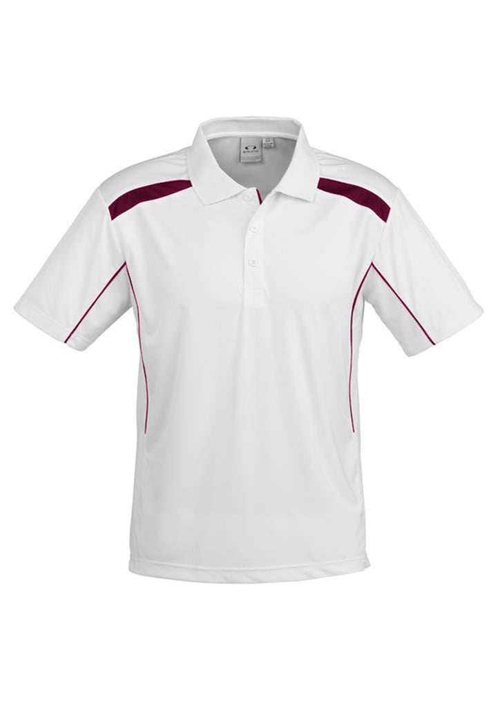 Biz Collection-Biz Collection Mens United Short Sleeve Polo 2nd  ( 10 Colour )-White / Maroon / Small-Corporate Apparel Online - 9