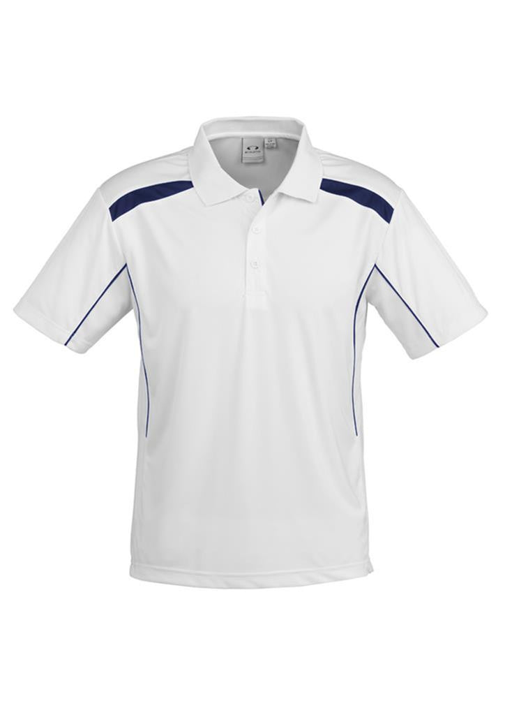 Biz Collection-Biz Collection Mens United Short Sleeve Polo 2nd  ( 10 Colour )-White / Navy / Small-Corporate Apparel Online - 1