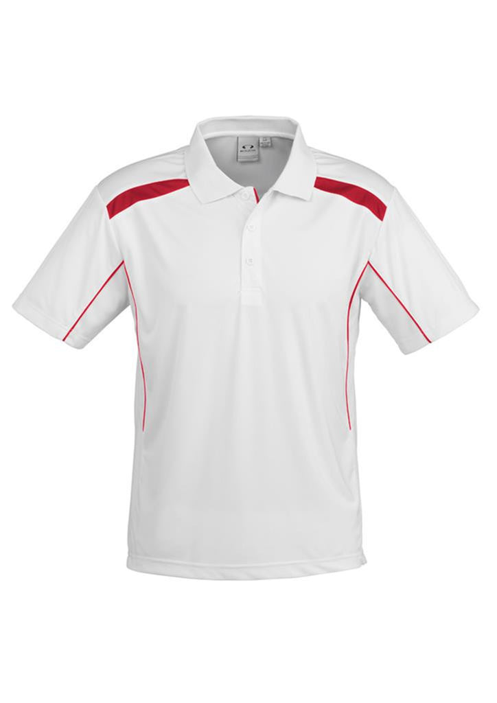 Biz Collection-Biz Collection Mens United Short Sleeve Polo 2nd  ( 10 Colour )-White / Red / Small-Corporate Apparel Online - 10