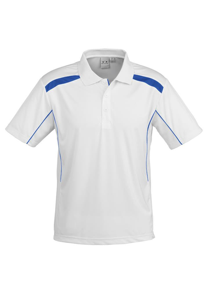 Biz Collection-Biz Collection Mens United Short Sleeve Polo 2nd  ( 10 Colour )-White / Royal / Small-Corporate Apparel Online - 3