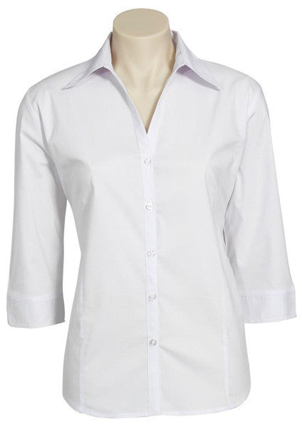 Biz Collection-Biz Collection Ladies Metro Shirt 3/4 Sleeve-White / 6-Corporate Apparel Online - 8