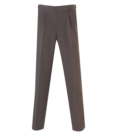 Bracks-Bracks 2 Pleat Plain Weave Trouser With Extendable Waistband-Taupe / 77R-Corporate Apparel Online - 7
