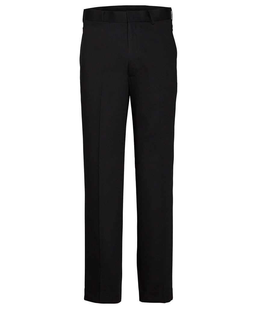 Van Heusen-Van Heusen Gents Black Flat Front, High Twist Yarn, Nail Head Fabric Trouser-Black / 82R-Corporate Apparel Online - 1