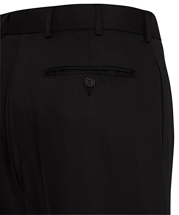 Van Heusen-Van Heusen Gents Black Flat Front, High Twist Yarn, Nail Head Fabric Trouser--Corporate Apparel Online - 2