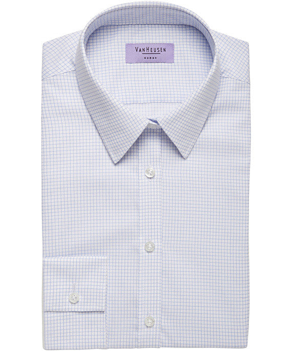 9c105e6489c Van Heusen Ladies Cotton Polyester Yarn Dyed Check Classic Fit Shirt(AWL155)