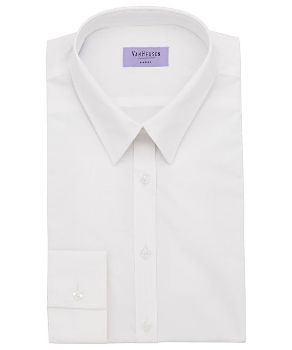 Van Heusen-Van Heusen Ladies Cotton Stretch Poplin Classic Fit Shirt--Corporate Apparel Online - 4